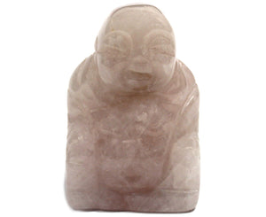 Rose Quartz Buddha Carving