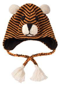 Wool Hand Knit Tiger Hat
