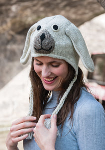 Wool Hand Knit Dog Hat