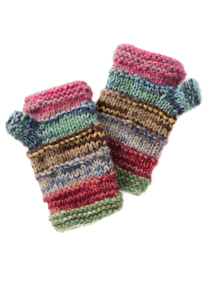 Pair of Space Dye Wool Handwarmers