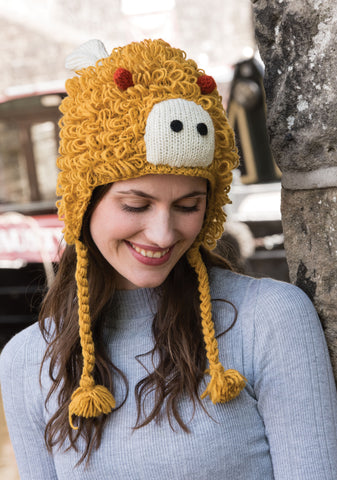 Wool Hand Knit Lion Hat