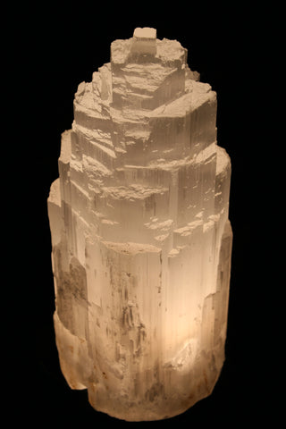 Small Selenite Mountain Lamp