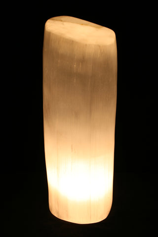 Polished Selenite Lamp