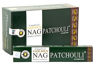 Golden Nag Patchouli Incense Sticks 15 grams