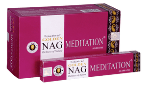 Golden Nag Meditation Incense Sticks 15 grams