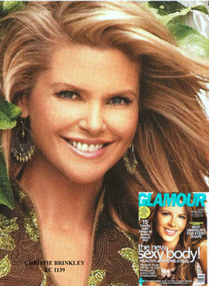 Christie Brinkley wears Yvone Christa in Glamour magazine