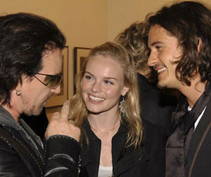 Kate Bosworth wearing Yvone Christa with Bono and Orlando Bloom