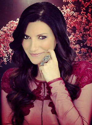Laura Pausini with Yvone Christa cocktail rings!