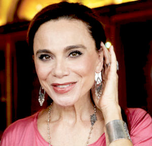 Lena Olin wearing Yvone Christa filigree