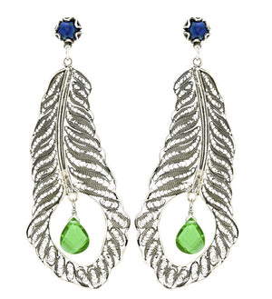 Yvone Christa_Peacock earrings_E3520