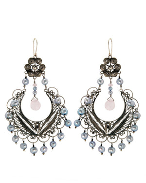 Yvone Christa_Frida chandelier earrings - ice blue pearl_EC886