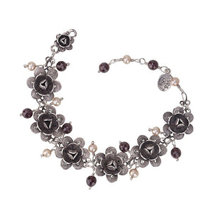 BC609 FILIGREE ROSE BRACELET by YVONE CHRISTA