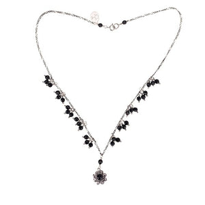 C1402 SINGLE FILIGREE FLOWER NECKLACE by Yvone Christa