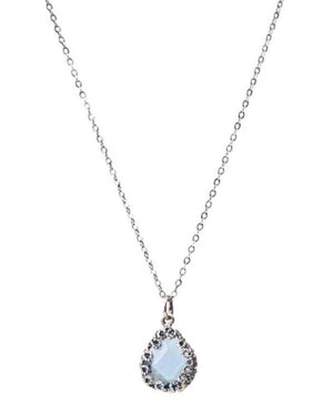 YvoneChrista_Teardrop necklace - small - light blue_C3544