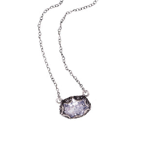 YVONE CHRISTA_SOLITAIRE CLEAR CZ NECKLACE_C3928