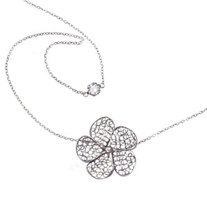 Yvone Christa_FLOATING LARGE PHLOX FLOWER NECKLACE_C4124