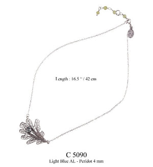 Oak leaf necklace - medium