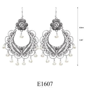Frida chandelier earrings - clear cz briolettes