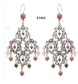 LARGE LACE CHANDELIER EARRINGS