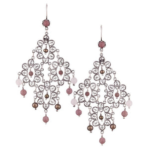 Yvone Christa_ELEGANT LACEY FILIGREE CHANDELIER EARRING IN LARGE DIAMOND SHAPE_E3434