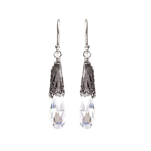 LA VIE EN ROSE DROP EARRINGS E3543_ Clear CZ by Yvone Christa