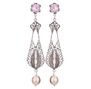 E3780_ELIZABETHAN CHAIR-ITY CHANDELIER EARRINGS by Yvone Christa