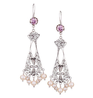 E3789 ELIZABETHAN CHAIR-ITY HANGING CHANDELIER EARRINGS