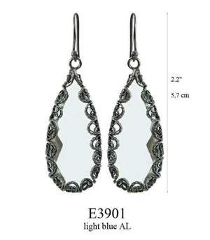 Teardrop filigree earrings - large