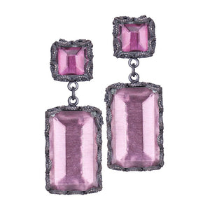 Yvone Christa_AQUA DECOR FUCHSIA EARRINGS_E3920p