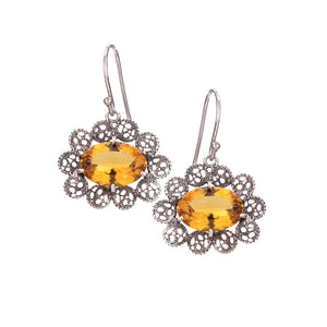 Yvone Christa_OVAL CITRINe AQUA LEMURIA WITH LACE SILVER FILIGREE_E3944