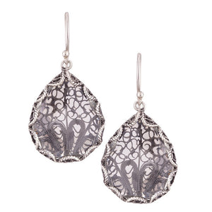 Yvone Christa_JAPANESE FAN DECOR EARRINGS WITH CLEAR AQUA LEMURIA_E3956