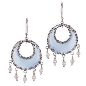 YVONE CHRISTA_CRESCENT BLUE MOON EARRINGS_E3979