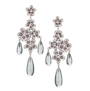 E4092 ROMANTIC HORTENSIA CHANDELIER EARRINGS by Yvone Christa