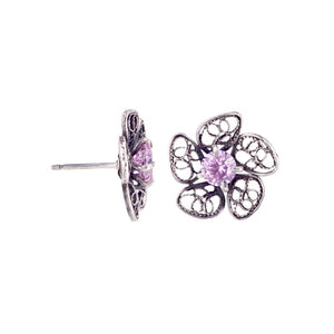 YVONE CHRISTA_PHLOX FLOWER STUD EARRINGS _E4118