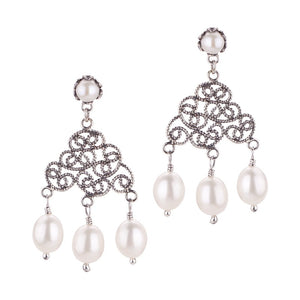 Swirled filigree earrings