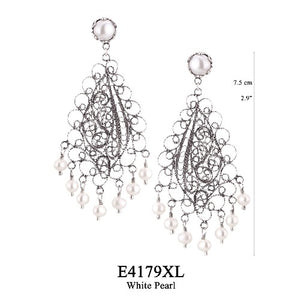 Lotus flower chandelier earrings