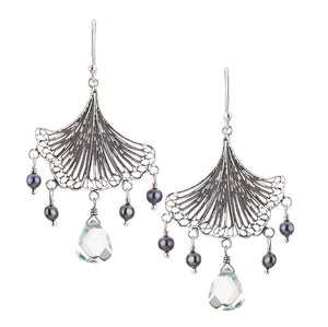 Yvone Christa_GINKGO BILOBA FAN LEAF EARRINGS_E4213H
