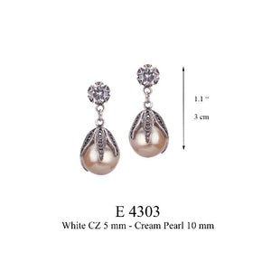 TULIP PEARL DROP EARRINGS