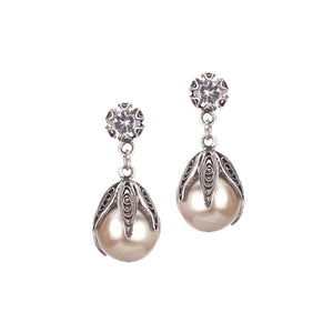 TULIP PEARL DROP EARRINGS_E4303 by Yvone Christa