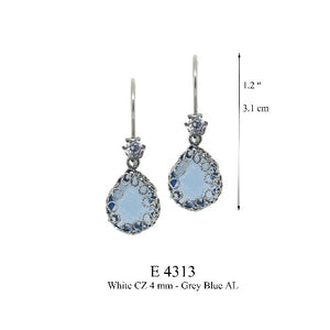 Teardrop earrings - Clear AL