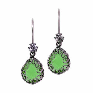 Teardrop earrings - Emerald green AL