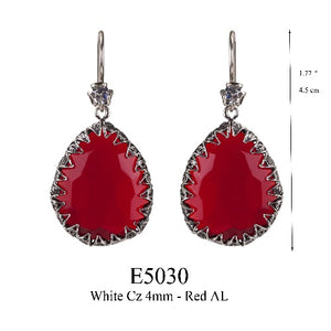 Red Delight Teardrop earrings