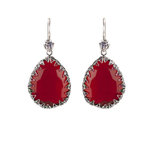 YvoneChrista_Red Delight Teardrop earrings_E5030