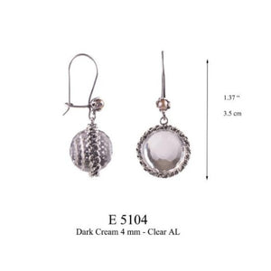 Morning Dewdrop earrings - smokey