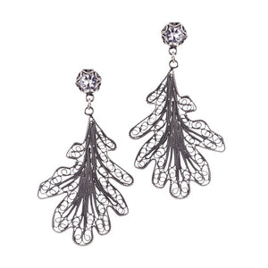 Oak Leaf earrings_E5110 by Yvone Christa