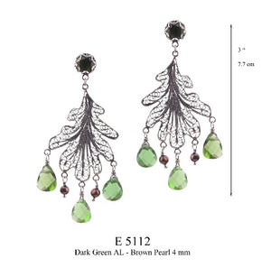 Oak Leaf chandelier earrings - medium