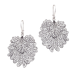 Crown leaf hanging earrings - large_E5115 by Yvone Christa