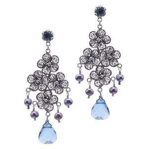 Yvone Christa_LACE FLOWER CHANDELIER EARRINGS_E5142