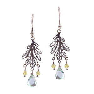 Oak leaf earrings - small_E5146 by Yvone Christa
