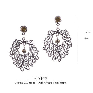 Crown leaf earrings - small